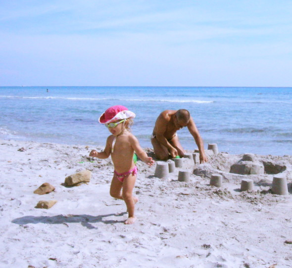 Sandcastle in the beach